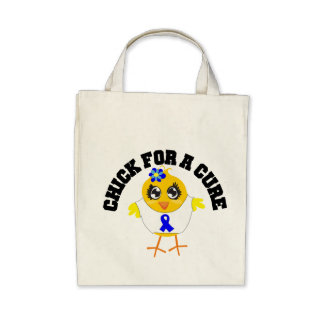 Colon Cancer Chick For A Cure Bag