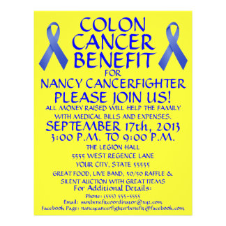 Colon Cancer Fighter Benefit Flyer