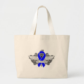 Colon Cancer Fighter Wings Jumbo Tote Bag