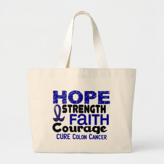 Colon Cancer HOPE 3 Tote Bag