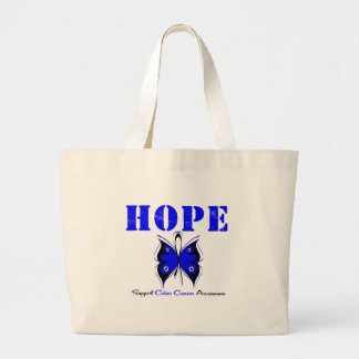 Colon Cancer Hope Butterfly Jumbo Tote Bag
