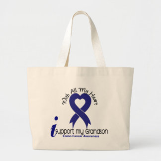 Colon Cancer I Support My Grandson Tote Bag