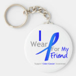 Colon Cancer I Wear Blue For My Friend Keychains
