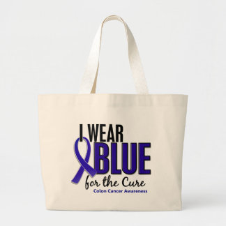 Colon Cancer I Wear Blue For The Cure 10 Tote Bags