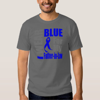 Colon Cancer I Wear Blue Ribbon Father-in-Law T Shirts