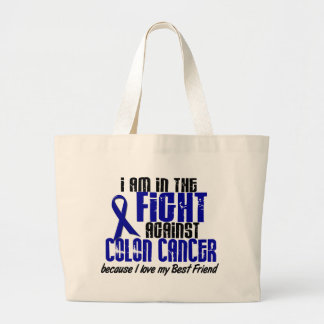 COLON CANCER In The Fight For My Best Friend 1 Jumbo Tote Bag