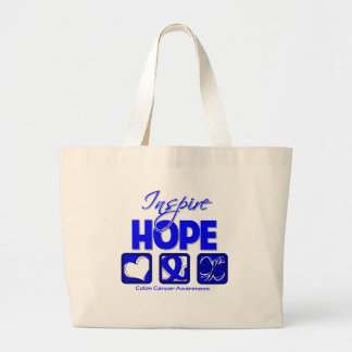 Colon Cancer Inspire Hope Tote Bags