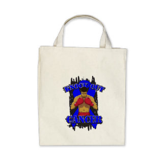 Colon Cancer Knock Out Cancer Tote Bag