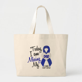 Colon Cancer MISSING MY DAD Tote Bags