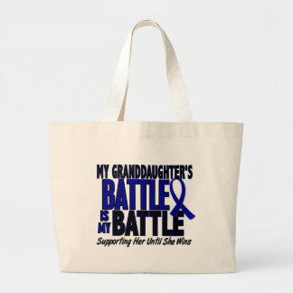 Colon Cancer MY BATTLE TOO 1 Granddaughter Bags
