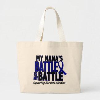 Colon Cancer MY BATTLE TOO 1 Nana Jumbo Tote Bag
