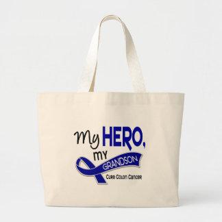 Colon Cancer MY HERO MY GRANDSON 42 Jumbo Tote Bag