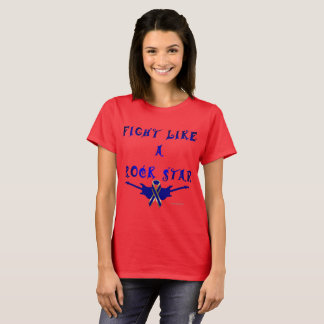 Colon Cancer Rock Star Ladies T-Shirt