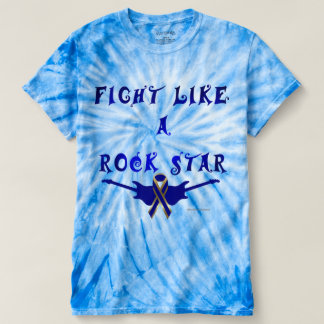 Colon Cancer Rock Star Men's Tie-Dye T-shirt