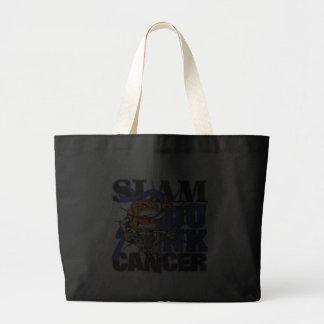 Colon Cancer - Slam Dunk Cancer Canvas Bag