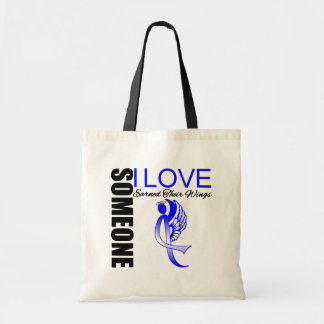 Colon Cancer Someone I Love Earned Their Wings Budget Tote Bag