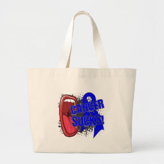 Colon Cancer Sucks Scream It Jumbo Tote Bag