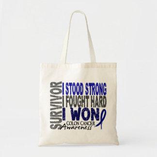 Colon Cancer Survivor 4 Tote Bags