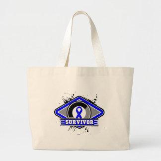 Colon Cancer Survivor Grunge Logo Tote Bag