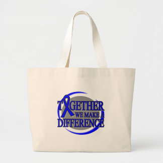 Colon Cancer Together We Make A Difference Jumbo Tote Bag
