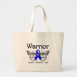 Colon Cancer Warrior Scroll Jumbo Tote Bag
