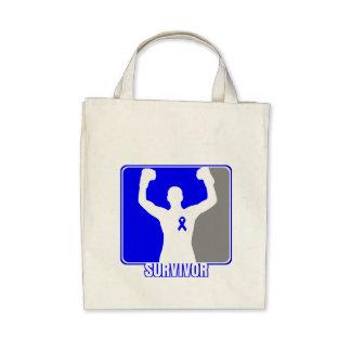 Colon Cancer Winning Survivor Tote Bag