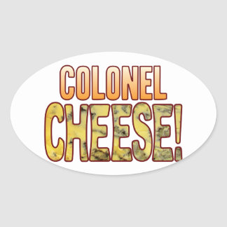Colonel Blue Cheese Oval Sticker