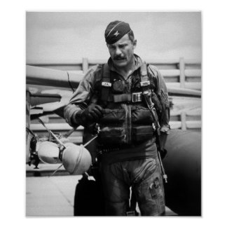 Colonel Robin Olds Poster