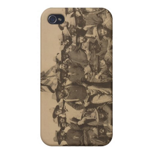 Colonel Roosevelt and his Rough Riders iPhone 4 Cases