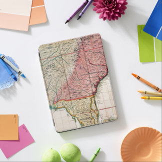 COLONIAL AMERICA MAP, 1733 iPad AIR COVER