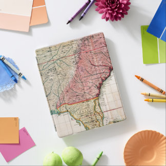 COLONIAL AMERICA MAP, 1733 iPad COVER