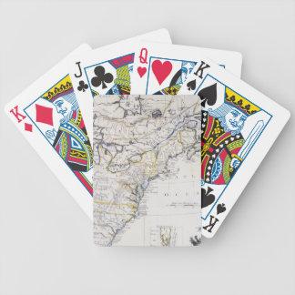 COLONIAL AMERICA: MAP, c1770 Poker Deck