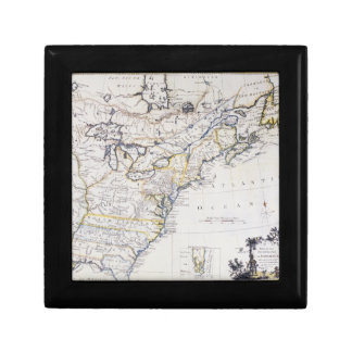 COLONIAL AMERICA: MAP, c1770 Trinket Boxes