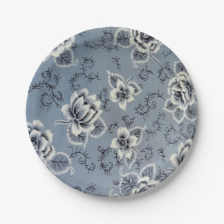 Colonial Blue Flower Pattern Paper Plates 7 Inch Paper Plate