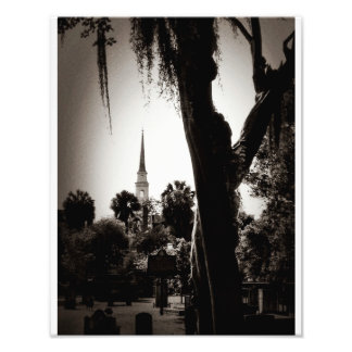 Colonial Cemetery, Savannah (Black And White) Photo Art