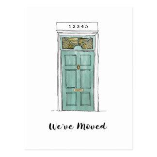 Colonial Door Illustration Moving Postcard