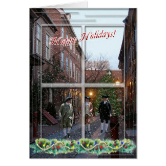 Colonial Happy Holidays Card