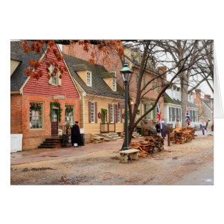 Colonial Morning - Williamsburg Card