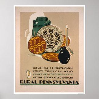 Colonial Pennsylvania 1940 WPA Poster