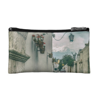 Colonial Street of Arequipa City Peru Makeup Bags