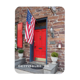colonial style house in Gettysburg Pennsylvania Rectangular Photo Magnet