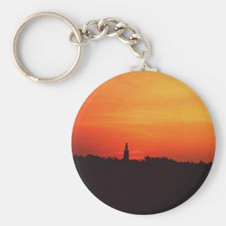 Colonial Sunrise Basic Round Button Keychain