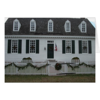 Colonial Williamsburg 18th century building Card