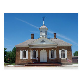 Colonial Williamsburg Courthouse Postcard