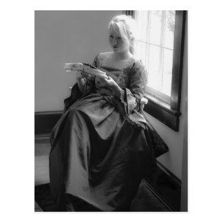 Colonial Woman Postcard