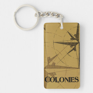 Colonies  Antique Keychain