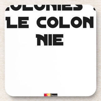 COLONIES, the COLONIST DENIES - Word games Coaster