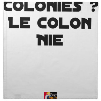 COLONIES, the COLONIST DENIES - Word games Napkin