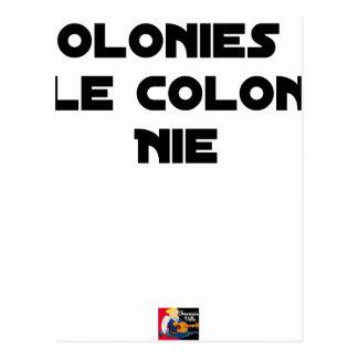 COLONIES, the COLONIST DENIES - Word games Postcard
