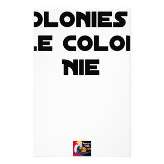 COLONIES, the COLONIST DENIES - Word games Stationery